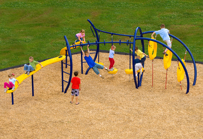 Playground safety surfacing Kansas City by Recreation Installations