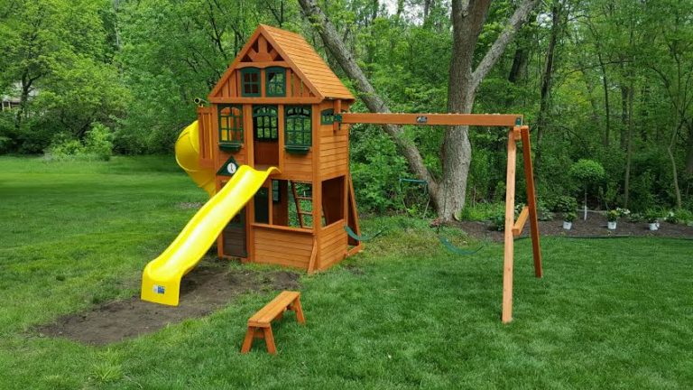 Cedar Summit Twin Mountain Lodge Swing Set Installation Provided By Recreation Installations Kansas City
