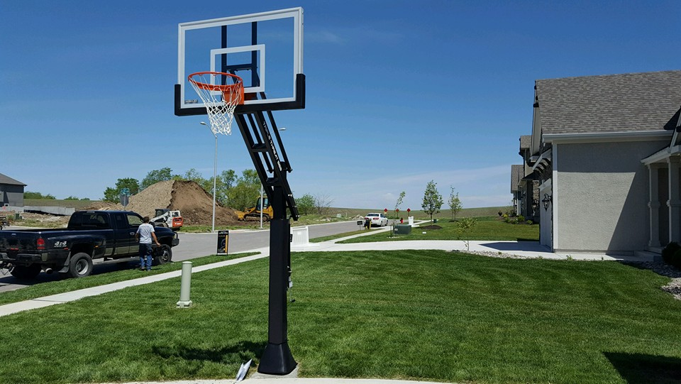 Inground Basketball Goal Installation By Recreation Installations Kansas City