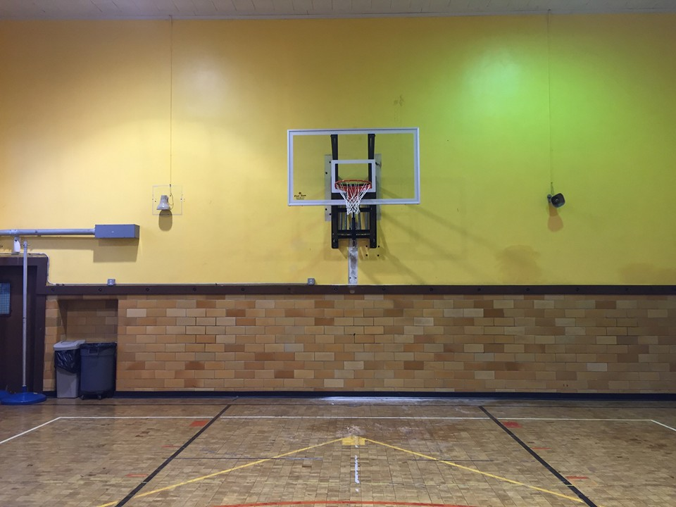 Wall Mount Basketball Goal Installation Recreation Installations
